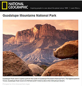 Guadalupe Mountains, Texas, El Capitan, peak, national park