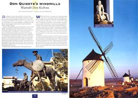 Don Quixote, Windmills, La Mancha, Spain
